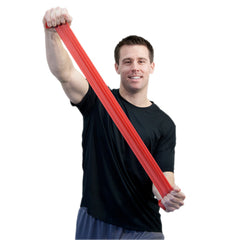 CanDo® Sup-R Band Latex-Free Exercise Band - 6-Yard Roll - Red - light