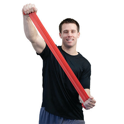 CanDo® Sup-R Band Latex-Free Exercise Band - 25-Yard Roll - Red - light