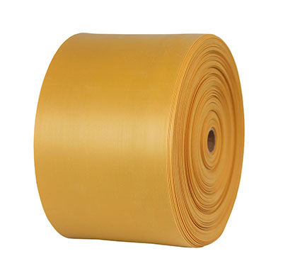 CanDo® Sup-R Band Latex-Free Exercise Band - 25-Yard Roll - Gold - xxx-heavy