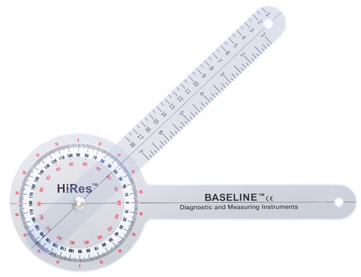 Baseline®-plastic-goniometer---hires-360-degree-head---12-inch-arms-25-pack