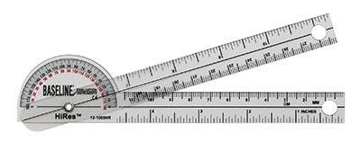 Baseline®-plastic-goniometer---pocket-style---hires-180-degree-head---6-inch-arms