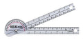 Baseline® Plastic Goniometer - Pocket Style - 180 Degree Head - 6 inch Arms, 25-pack