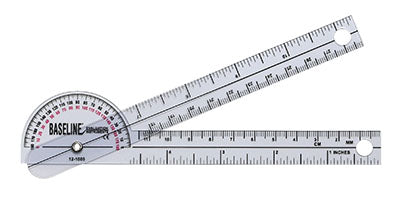 Baseline® Plastic Goniometer - Pocket Style - 180 Degree Head - 6 inch Arms