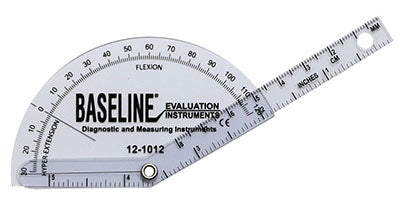 Baseline® Plastic Goniometer - Finger - Flexion to Hyper-Extension