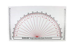 Baseline® Posture Evaluation - 3-piece Set - Protractor, Evaluator and Grid