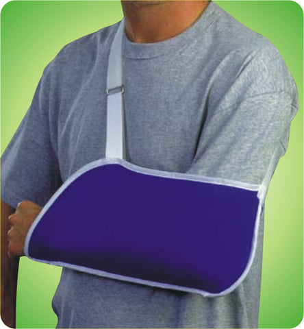 Deluxe Arm Sling - Blue Contact Closure