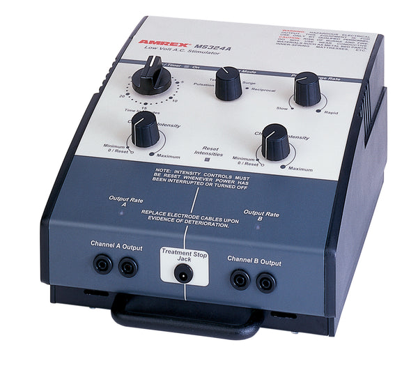 Amrexå¨ Stim - MS324A dual channel low volt AC Stimulator