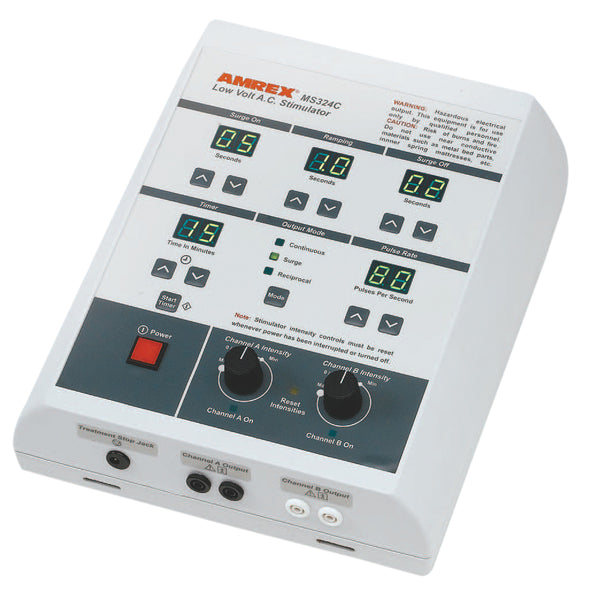 Amrexå¨ Stim - MS324C dual channel low volt AC Stimulator