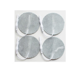2 in. Round - White Fabric Top Electrodes Case of 10 (4/pk)