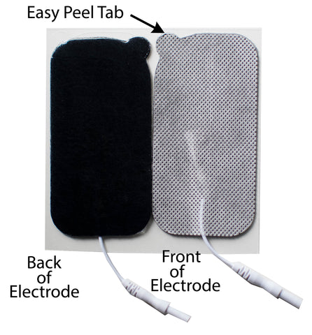 2 in. x 4 in. Rectangle - White Fabric Top Electrodes Case of 10 (4/pk)