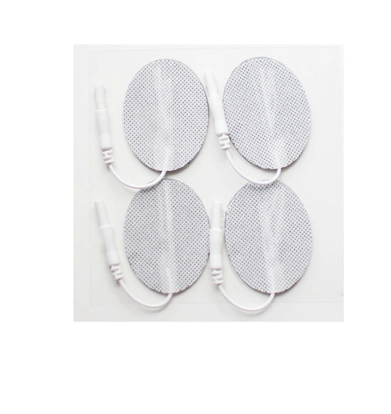 1.5 in. x 2.5 in. Oval - White Fabric Top Electrodes Case of 10 (4/pk)