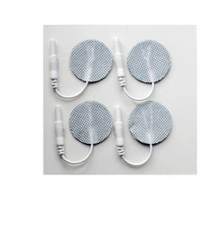 1.25 in. Round - White Fabric Top Electrodes Case of 10 (4/pk)