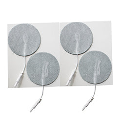 2.75 in. Round - White Fabric Top Electrodes Case of 10 (4/pk)