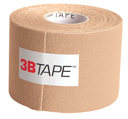 3B Tape, 2 in. x 16.5 ft, beige, latex-free