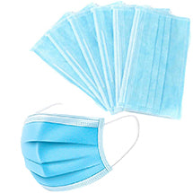 Disposable 3-Ply Face Mask with Ear Loop - Blue (Box of 50)