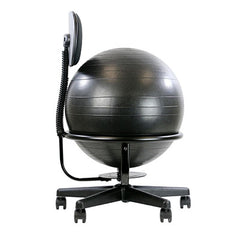 CanDo® Ball Chair - Metal - Mobile - with Back - no Arms - with 22 inch Ball