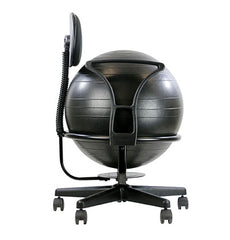 CanDo® Ball Chair - Metal - Mobile - with Back - with Arms - with 22 inch Ball