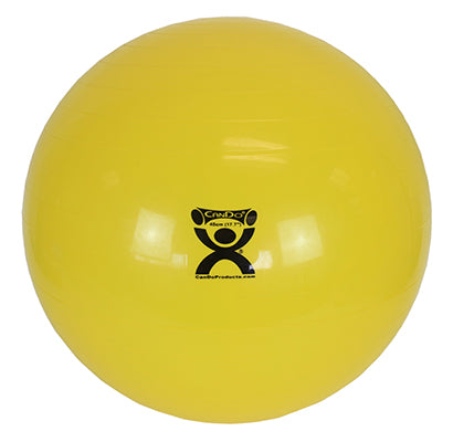 CanDo® Inflatable Exercise Ball - with 3 Stability Feet - Yellow - 18 inch