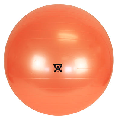 CanDo® Inflatable Exercise Ball - with 3 Stability Feet - Orange - 22 inch