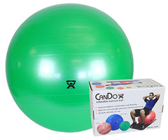 CanDo® Inflatable Exercise Ball - Super Thick - Green - 26 inch, Retail Box