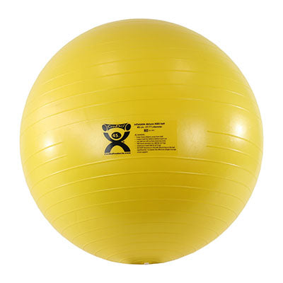 CanDo® Inflatable Exercise Ball - Deluxe ABS Ball - Yellow - 18 inch
