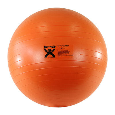 CanDo® Inflatable Exercise Ball - Deluxe ABS Ball - Orange - 22 inch