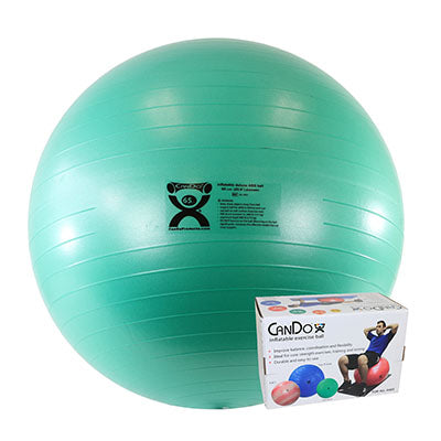 CanDo® Inflatable Exercise Ball - Deluxe ABS Ball - Green - 26 inch, Retail Box