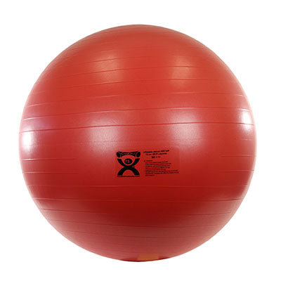 CanDo® Inflatable Exercise Ball - Deluxe ABS Ball - Red - 30 inch