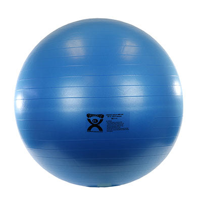 CanDo® Inflatable Exercise Ball - Deluxe ABS Ball - Blue - 34 inch