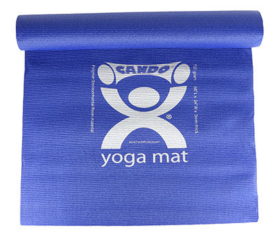 CanDo® Exercise Mat - PER Yoga Mat - Blue, 68 x 24 x 0.25 inch, case of 10