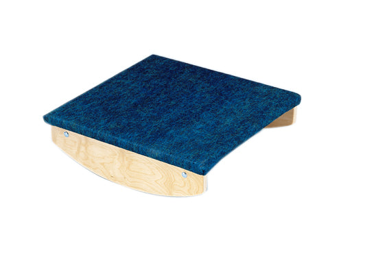 Rocker Board - Wooden with carpet - side-to-side, front-to-back combo - 18x18x5 inch