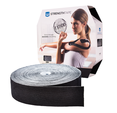 StrengthTape® Kinesiology Tape 35M Uncut Black