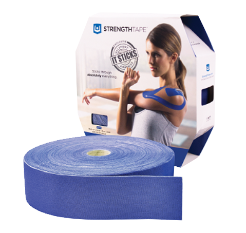 StrengthTape® Kinesiology Tape 35M Uncut Royal Blue