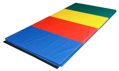 CanDo® Accordion Mat - 2 inch PU Foam with Cover - 4 x 8 foot - Specify Rainbow Colors