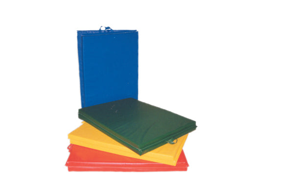 CanDo® Mat with Handle - Center Fold - 1-3/8 inch PE Foam with Cover - 4 x 6 foot - Specify Color