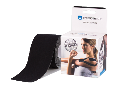 StrengthTape® Kinesiology Tape 5M Uncut Roll Black