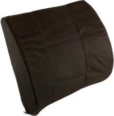Contoured Lumbar Back Cushion w / Strap