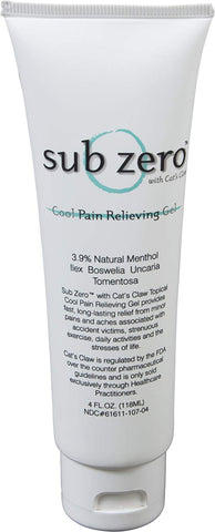 Sub Zero® Analgesic Gel 4 oz Tube