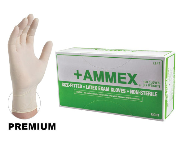 AMMEX Hand Specific Latex Pwd Exam Gloves
