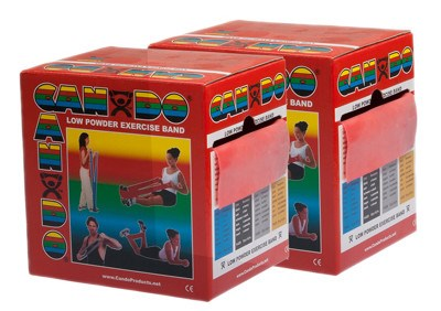 CanDo® Low Powder Exercise Band - 100 yard (2 x 50-yd rolls) - Red - light