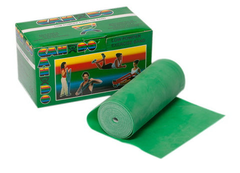 CANDO® Low Powder Exercise Band - 6 Yard Roll - Green (Medium)