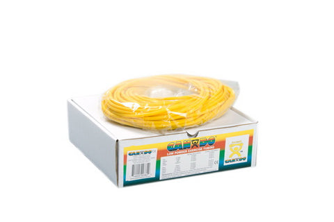 CanDo® Low Powder Exercise Tubing - 100 foot dispenser roll - Yellow - x-light