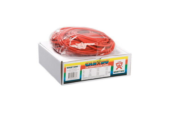 CanDo® Low Powder Exercise Tubing - 100 foot dispenser roll - Red - light