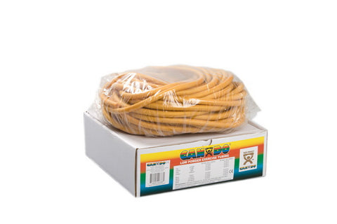 CanDo® Low Powder Exercise Tubing - 100 foot dispenser roll - Gold - xxx-heavy