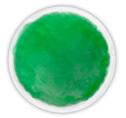 "DSM Supply® Reusable Hot/Cold Gel Pack, 6"" Round - Green"
