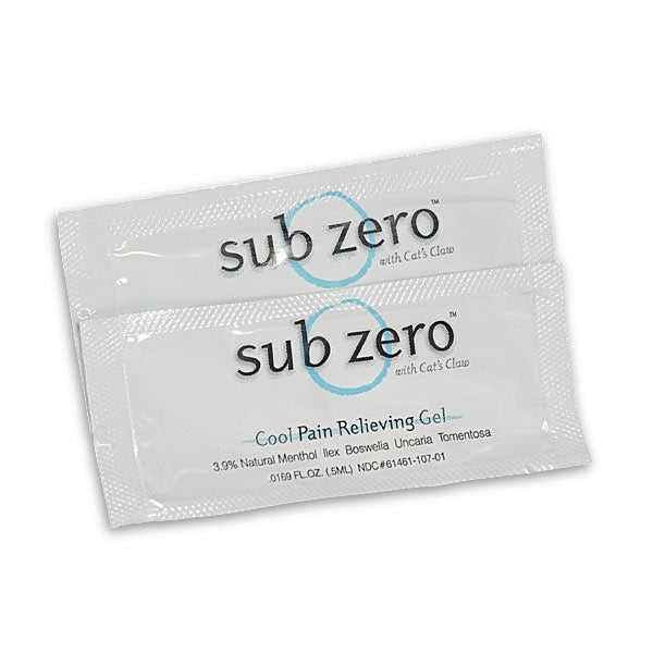 Sub Zero® Analgesic Gel 100 count sample pack