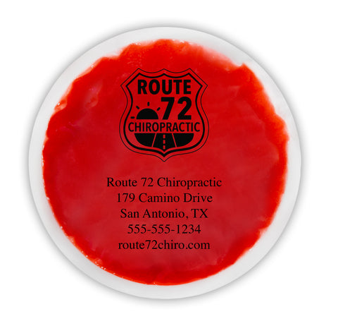 "Personalized Reusable Hot/Cold Gel Pack, 6"" Round - Red"