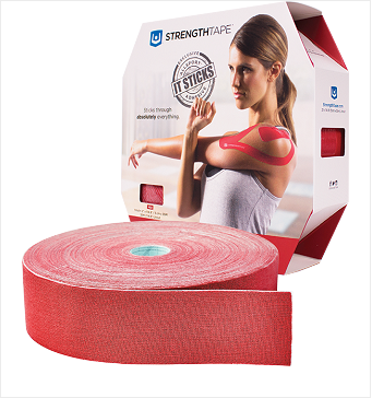 StrengthTape® Kinesiology Tape 35M Uncut Red