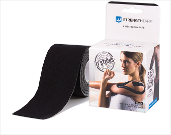 StrengthTape® Kinesiology Tape 5M Precut Roll Black
