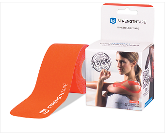 StrengthTape® Kinesiology Tape 5M Precut Roll Orange